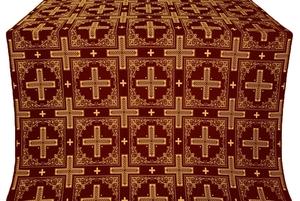 Iveron silk (rayon brocade) (claret/gold)