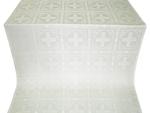 Iveron silk (rayon brocade) (white/silver)