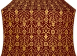 Prestol metallic brocade (claret/gold)