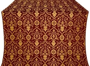 Prestol metallic brocade (claret/gold)