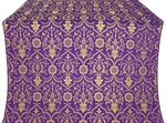Prestol metallic brocade (violet/gold)