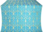 Prestol silk (rayon brocade) (blue/gold)