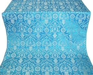 Prestol silk (rayon brocade) (blue/silver)