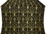 Prestol silk (rayon brocade) (black/gold)