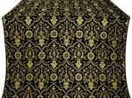 Prestol silk (rayon brocade) (black/gold)