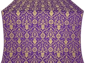 Prestol silk (rayon brocade) (violet/gold)