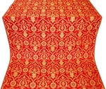 Prestol silk (rayon brocade) (red/gold)