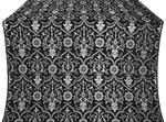 Prestol silk (rayon brocade) (black/silver)