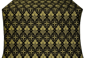 Vine silk (rayon brocade) (black/gold)