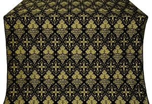 Vine silk (rayon brocade) (black/gold)