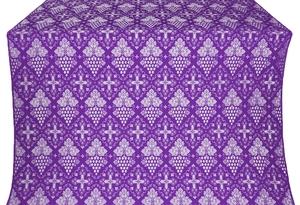 Vine silk (rayon brocade) (violet/silver)