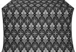 Vine silk (rayon brocade) (black/silver)