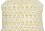 Vine silk (rayon brocade) (white/gold)