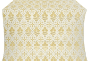 Vine silk (rayon brocade) (white/gold)