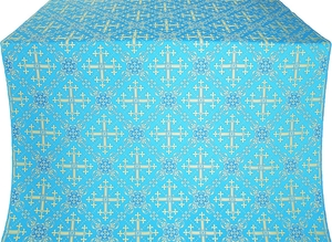 Soloun silk (rayon brocade) (blue/gold)