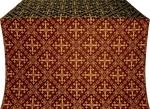 Soloun silk (rayon brocade) (claret/gold)