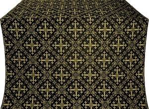 Soloun silk (rayon brocade) (black/gold)