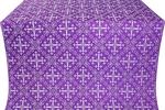 Soloun silk (rayon brocade) (violet/silver)