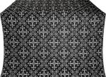 Soloun silk (rayon brocade) (black/silver)