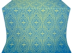 Don silk (rayon brocade) (blue/gold)