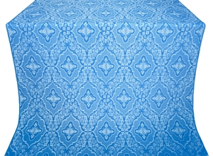 Don silk (rayon brocade) (blue/silver)