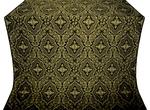 Don silk (rayon brocade) (black/gold)