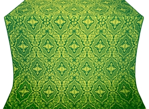 Don silk (rayon brocade) (green/gold)
