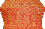 Don silk (rayon brocade) (red/gold)