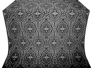 Don silk (rayon brocade) (black/silver)