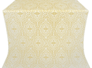 Don silk (rayon brocade) (white/gold)