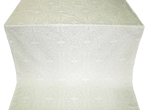 Don silk (rayon brocade) (white/silver)