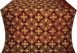 Pskov metallic brocade (claret/gold)