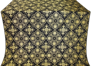 Pskov metallic brocade (black/gold)