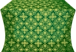Pskov metallic brocade (green/gold)