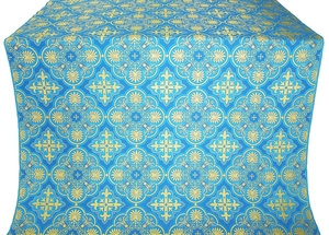Pskov silk (rayon brocade) (blue/gold)