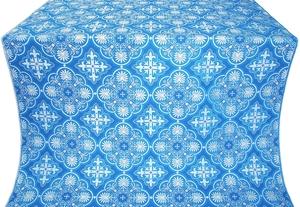 Pskov silk (rayon brocade) (blue/silver)