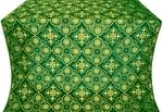 Pskov silk (rayon brocade) (green/gold)
