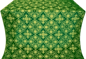 Pskov silk (rayon brocade) (green/gold)