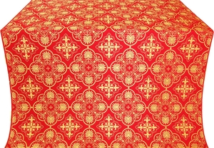 Pskov silk (rayon brocade) (red/gold)