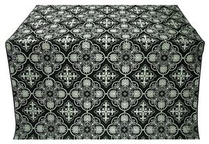 Pskov silk (rayon brocade) (black/silver)