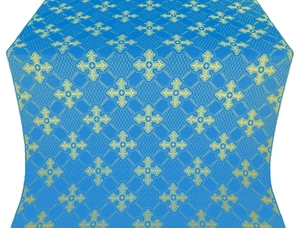 Podolsk silk (rayon brocade) (blue/gold)