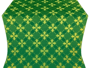 Podolsk silk (rayon brocade) (green/gold)