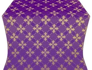 Podolsk silk (rayon brocade) (violet/gold)
