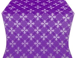 Podolsk silk (rayon brocade) (violet/silver)