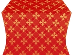 Podolsk silk (rayon brocade) (red/gold)