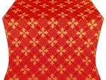 Podolsk silk (rayon brocade) (red/gold)