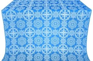 Carpathian silk (rayon brocade) (blue/silver)