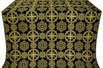 Carpathian silk (rayon brocade) (black/gold)