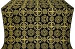 Carpathian silk (rayon brocade) (black/gold)