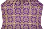 Carpathian silk (rayon brocade) (violet/gold)
